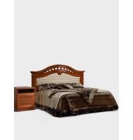 Кровать 2-х спальная (1,6 м)  с одной мягкой спинкой, с подъемным механизмом без матраца
